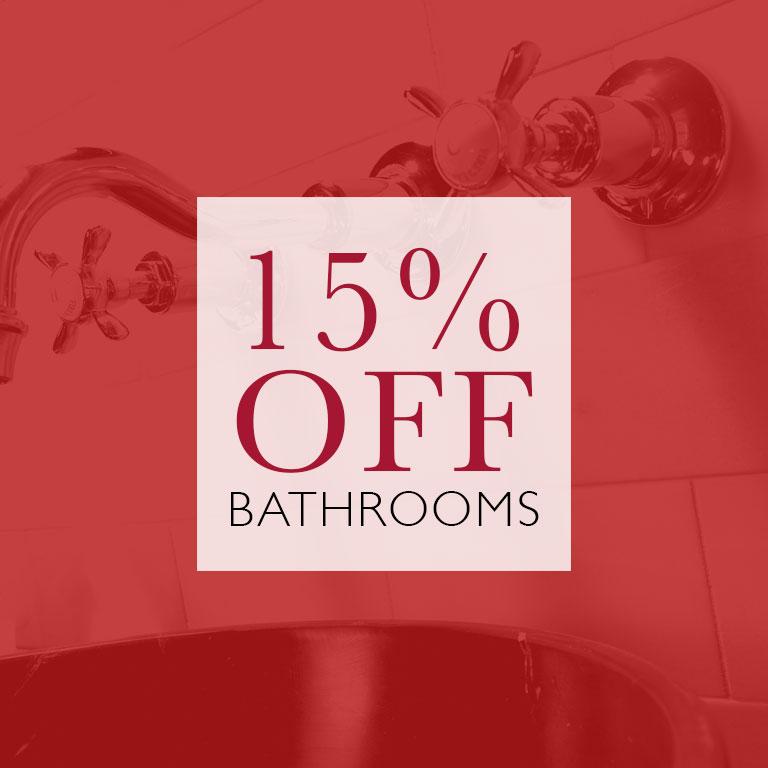Bathrooms 15% OFF