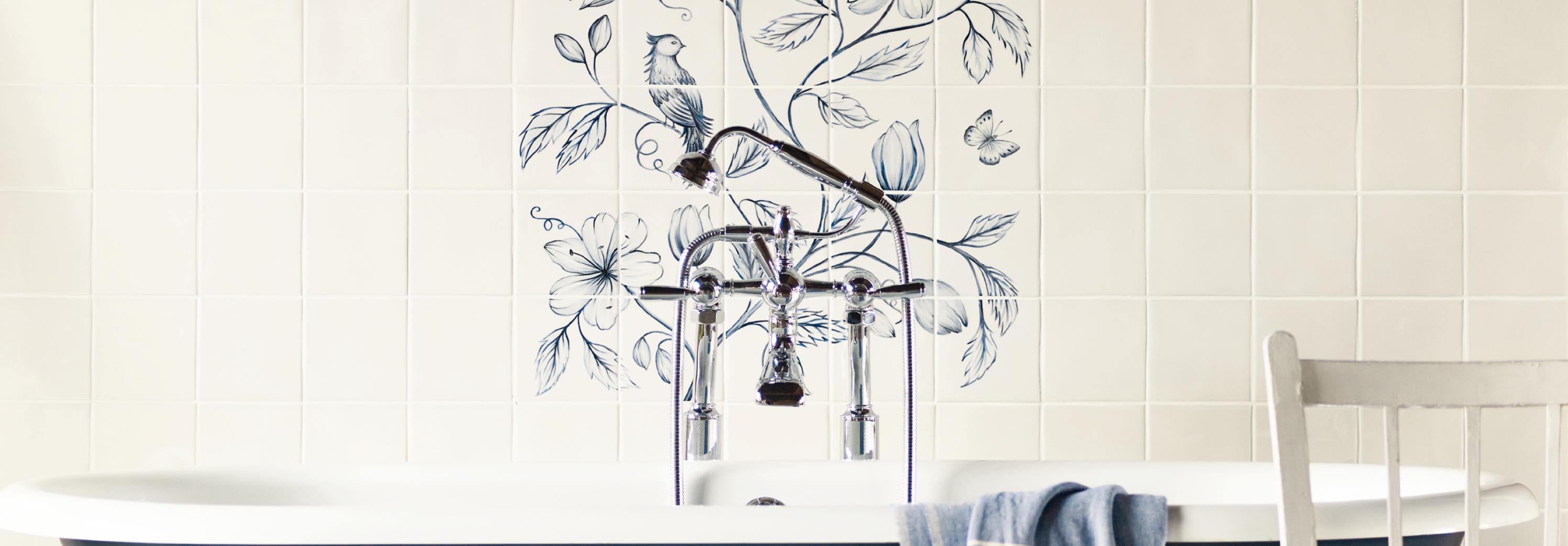 Botanical Blue Panel