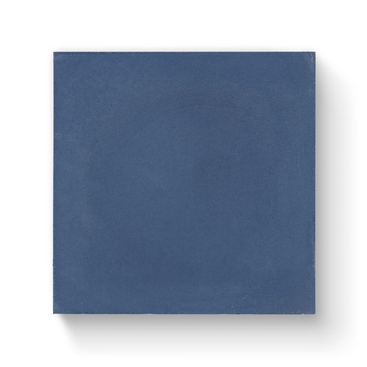 Bert & May Navy Plain Tile 20cm x 20cm