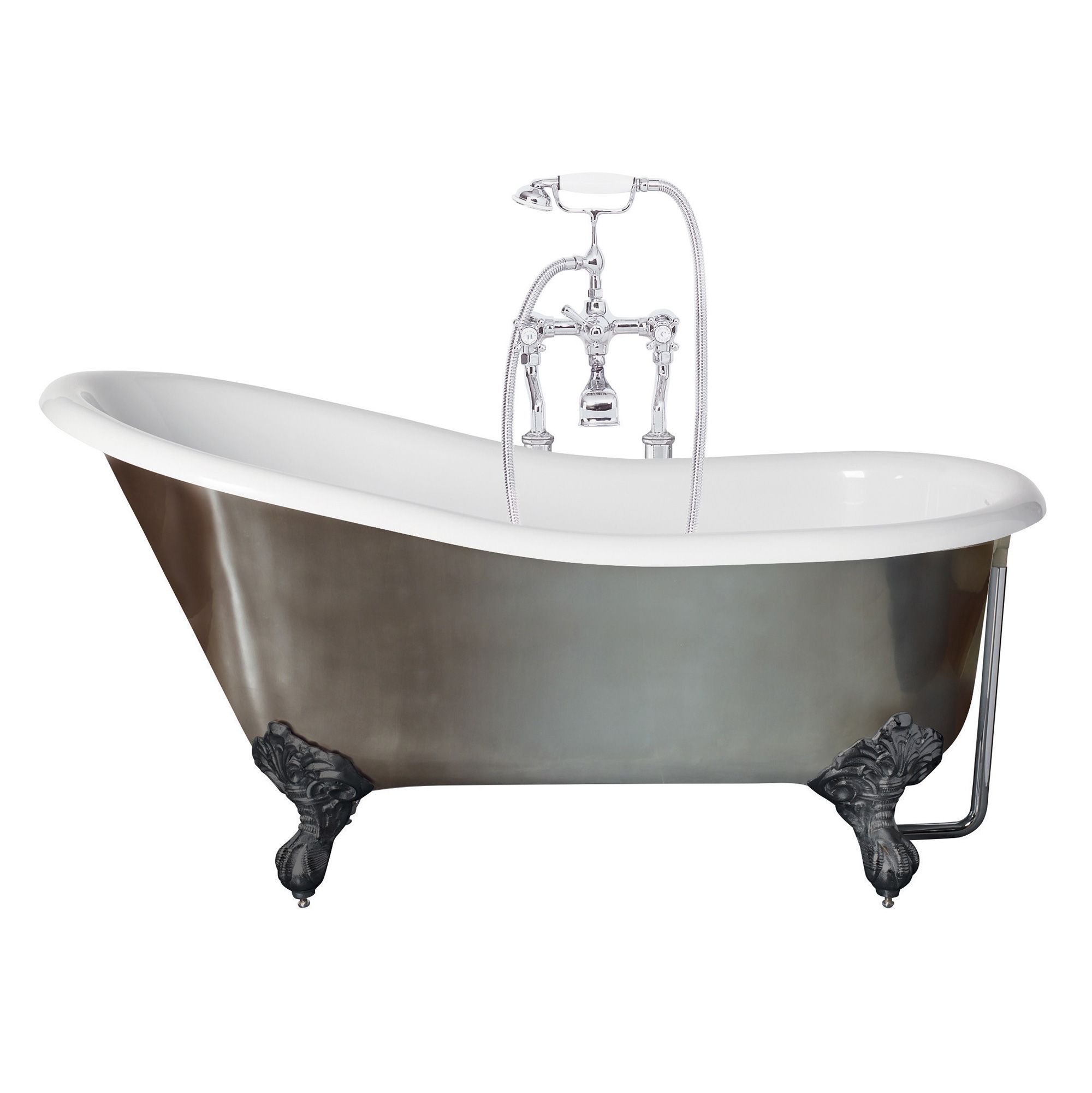 Canterbury Metallic Slipper Bath