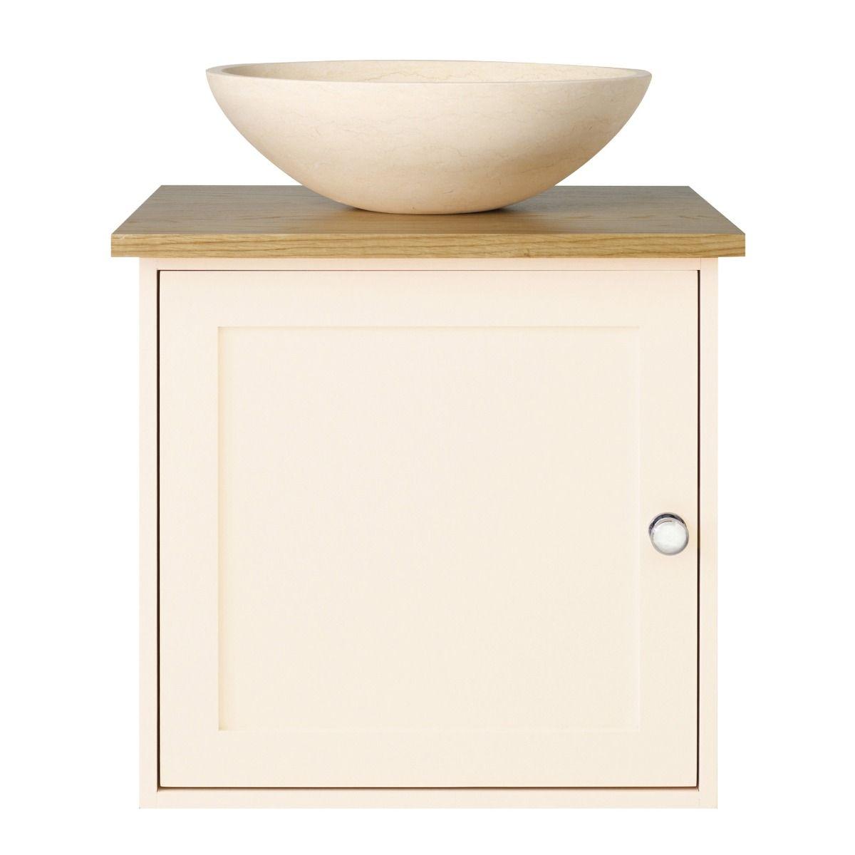 Charlbury Wall Hung Cabinet - Rose White