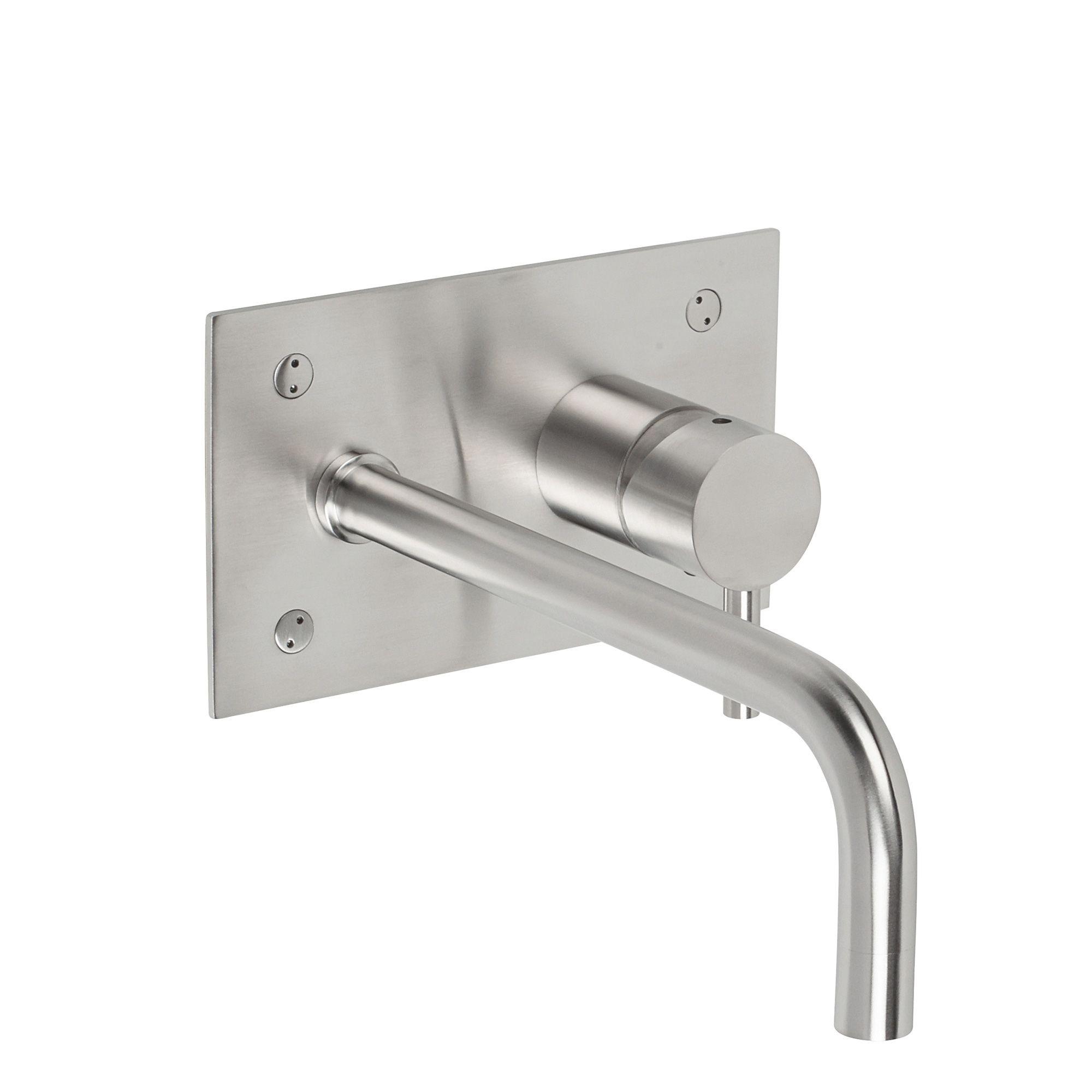 Hudson Wall mounted single lever basin mixer