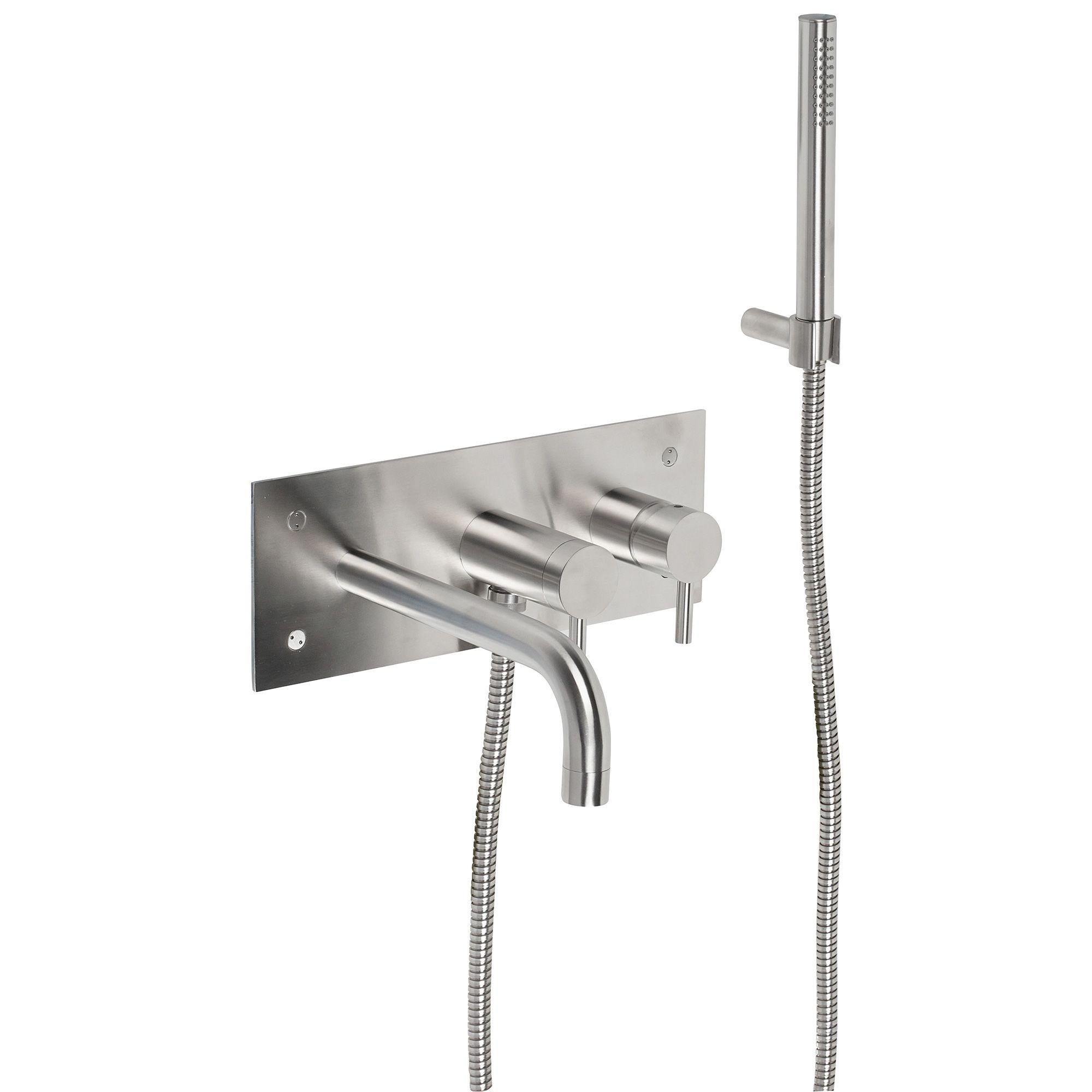 Hudson Wall mounted bath/shower mixer