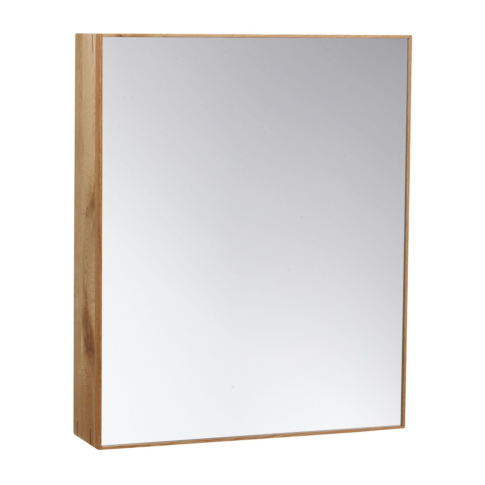 Bathroom Mirror -  Slimline Cabinet 550 - Oak