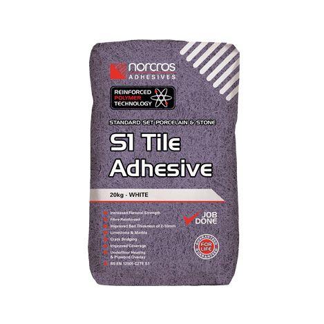 Norcros S1 Flexible Standard Set Adhesive White
