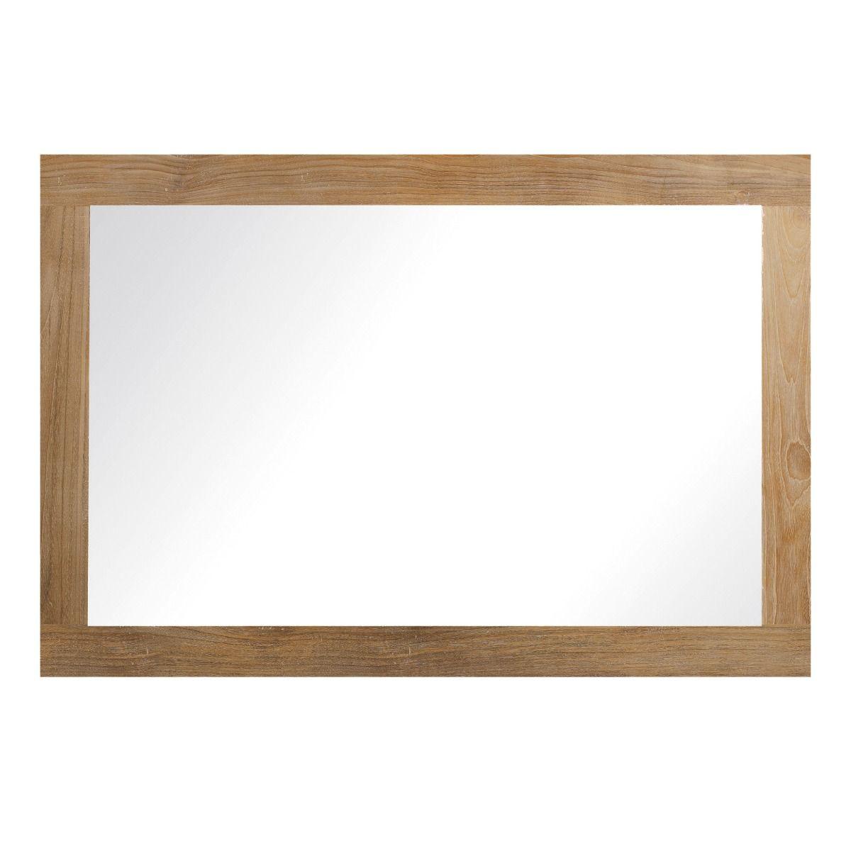 Teak Mirror 1200