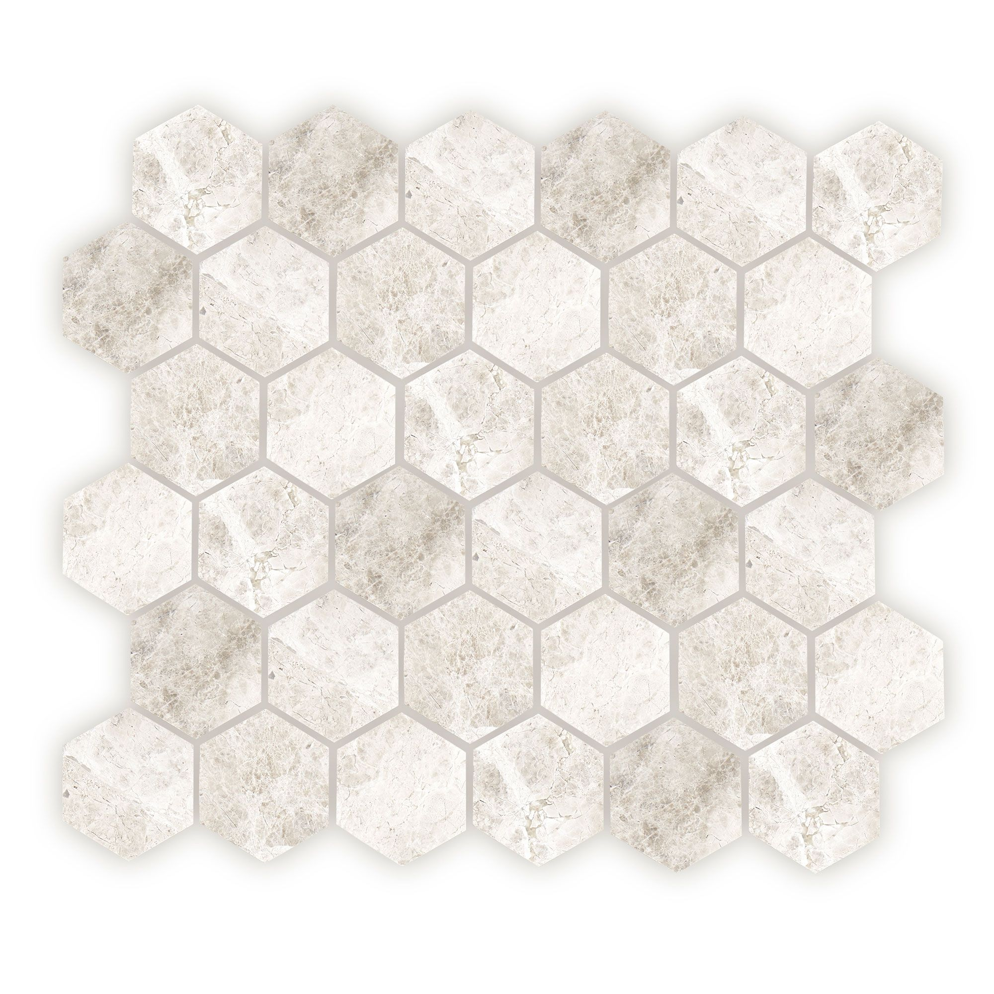 Westhampton Hexagon Mosaic, Honed
