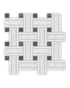 Bridgehampton Lattice Mosaic, Honed
