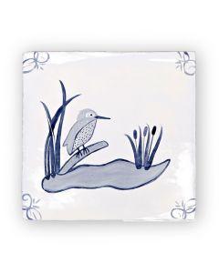 English Delft Kingfisher