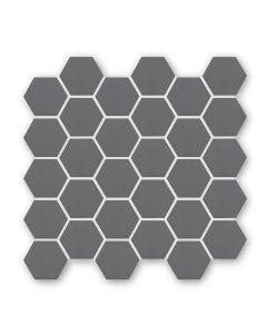 Geometric Black Hexagon Mosaic