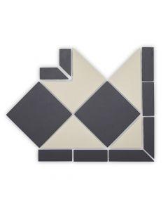 Geometric Black and White Oxford Corner