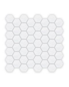 Iridescent Glass White Hexagon