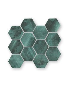Nebula Green Hexagon