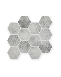 Nebula Silver Hexagon
