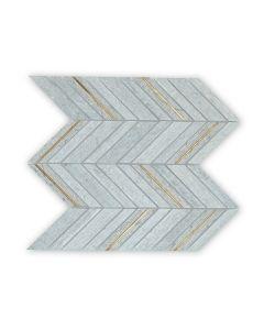 Savoy Grey Chevron Mosaic