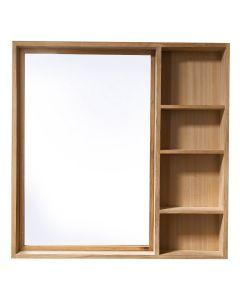 Teak Mirror and Side Storage