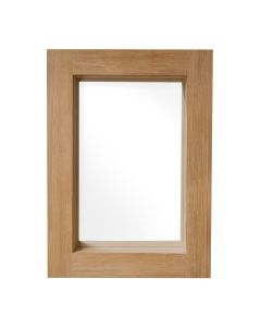 Teak Deep Mirror With Shelf