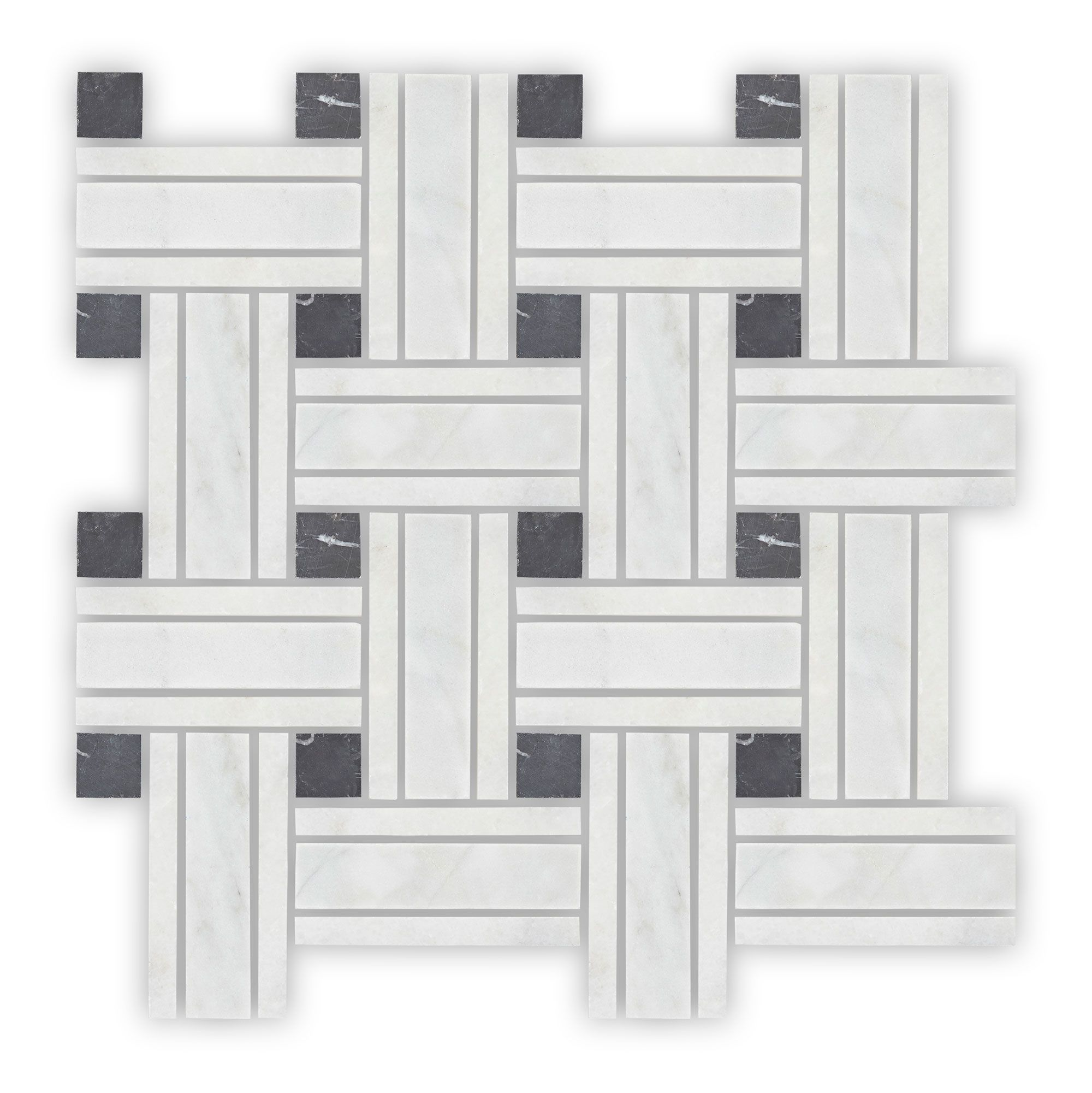 Bridgehampton Lattice Mosaic, Honed