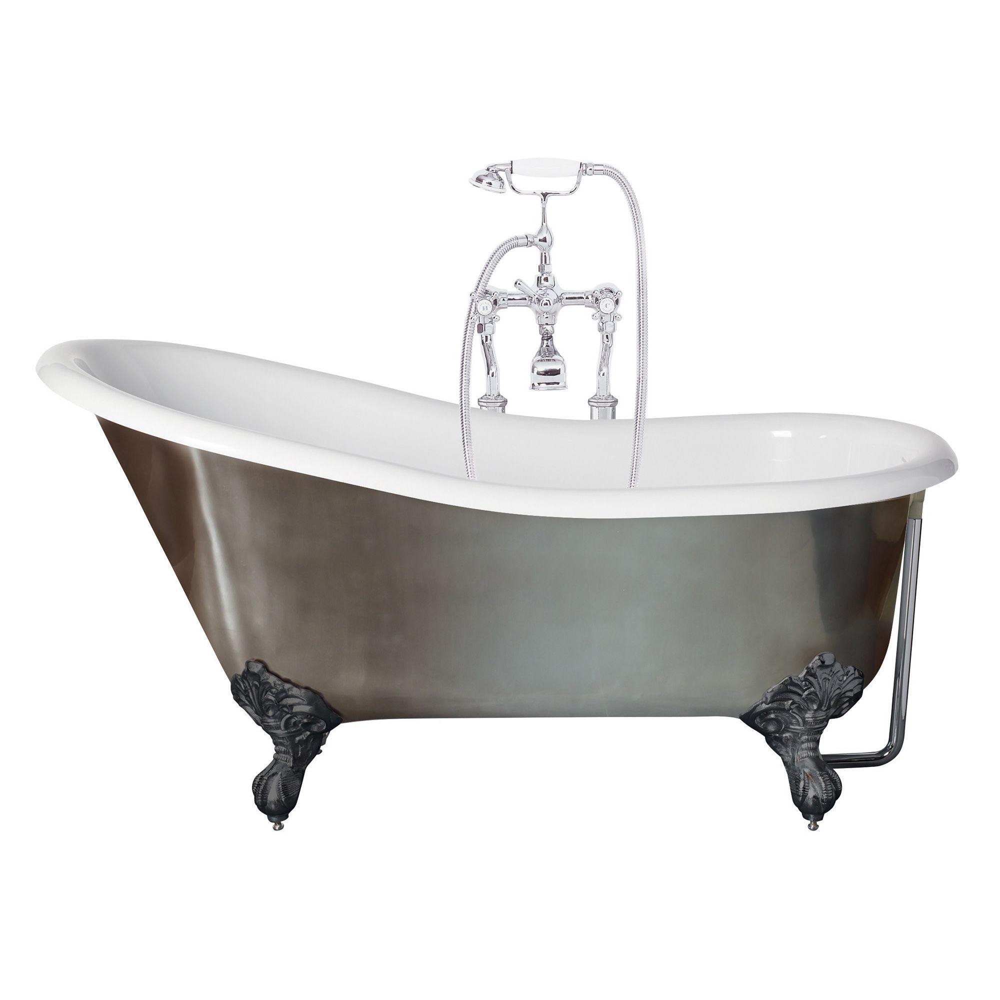 Canterbury Metallic Slipper Bath