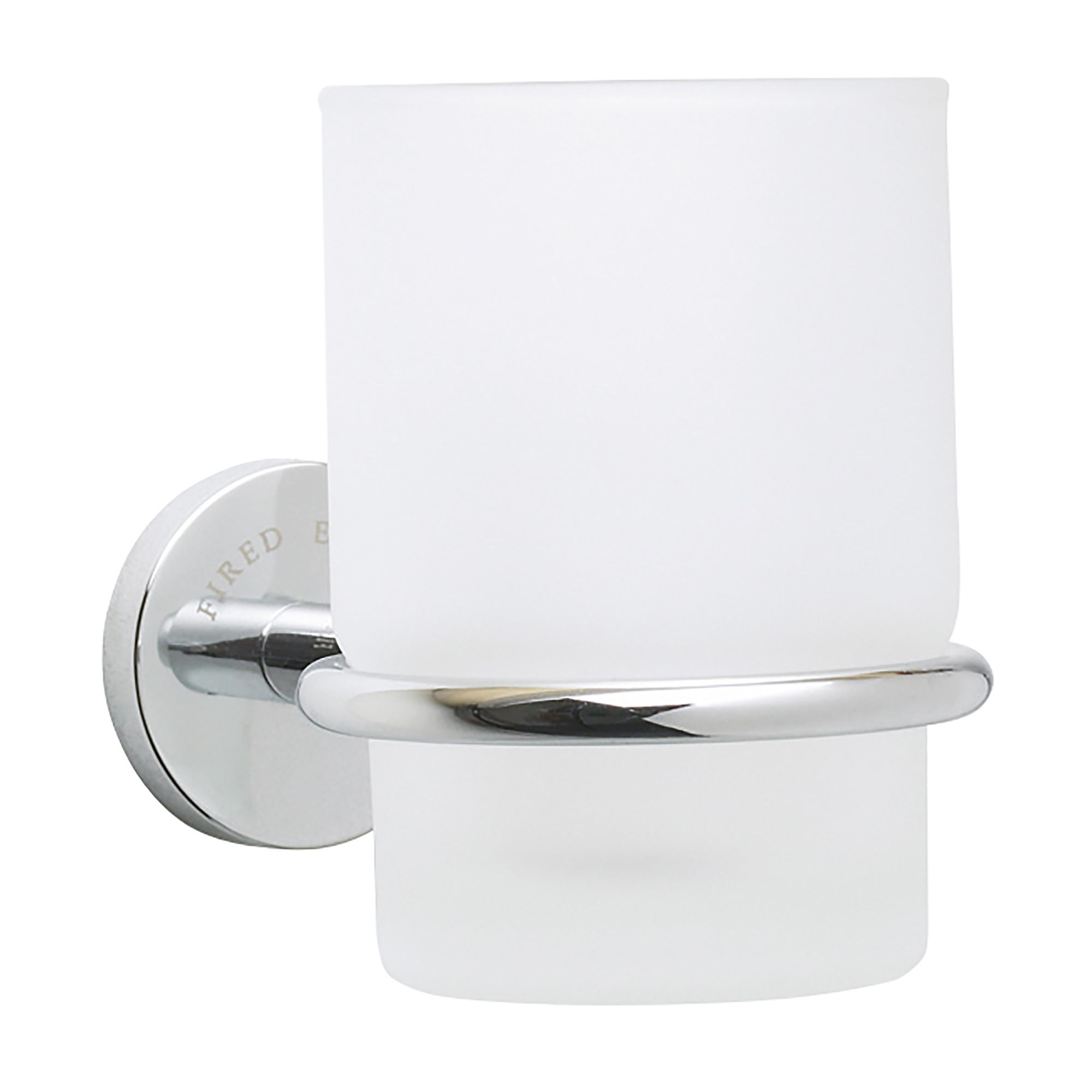 Chiswick Wall Mounted Glass Tumbler With Holder
