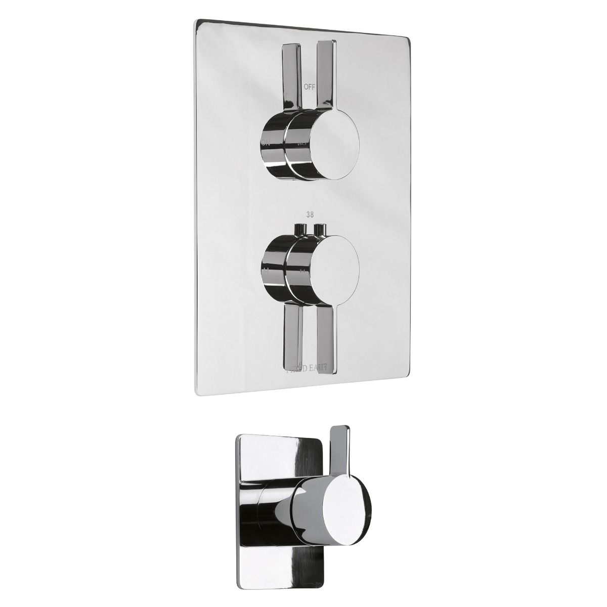 Logic Concealed Dual Control Shower with Diverter