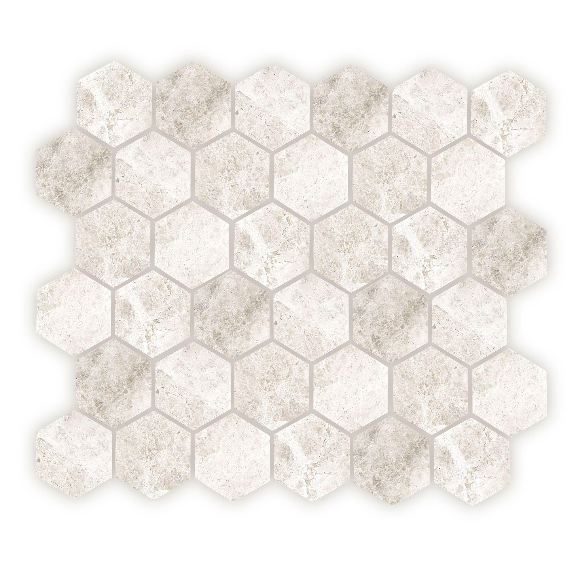 Westhampton Hexagon Mosaic, Honed