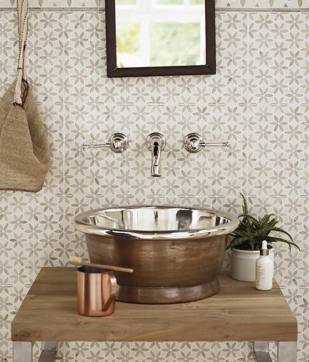 fired earth  wall  floor tiles  paint  bathrooms